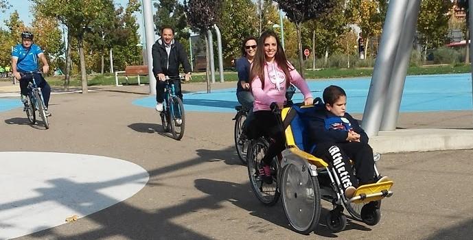 Paseo en bicicleta con los chicos del CPEE Alborada